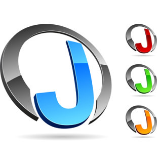 Company Symbol Letter J Symbol Vector Illustration