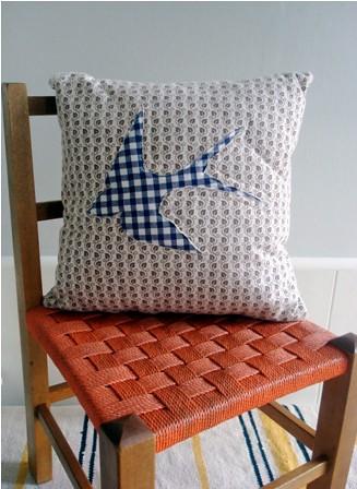 Amazing Blue Swallow Cushion Treefall Design Helen Wilde Flickr Theyellowbook Wood Chair Design Ideas Theyellowbookinfo