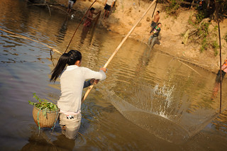 Lao Woman Fishing | by goingslowly