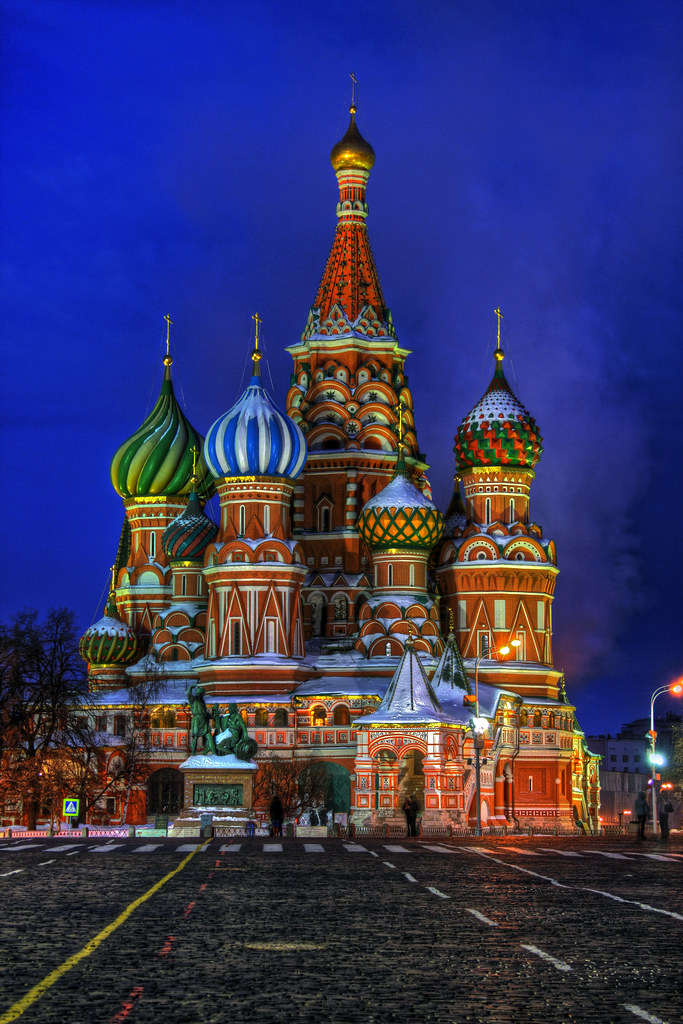 ... Moscow   St Basilu0027s Cathedral At Night | By AJ Brustein