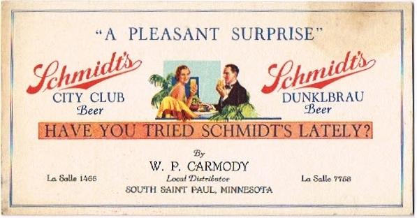 Schmidts-City-Club-BeerDunkelbrau-Beer--Blotters-Jacob-Schmidt-Brewing-Co