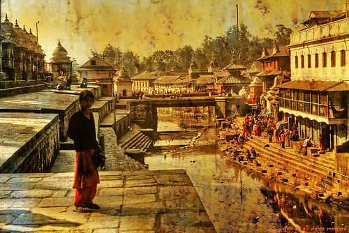 the girl on the banks of the bagmati | by yujapi