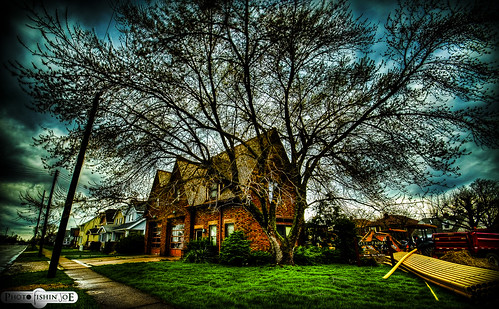 Old Parma Fire Station & Tree HDR | by photofishinjoe