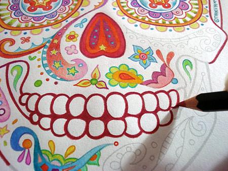 sugar skull coloring pages thaneeya - photo#31