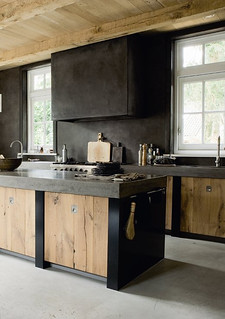 a modern rustic kitchen | by the style files