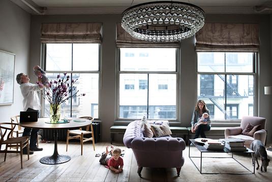 harriet mawell andrew corrie elle decor loft living room by recent