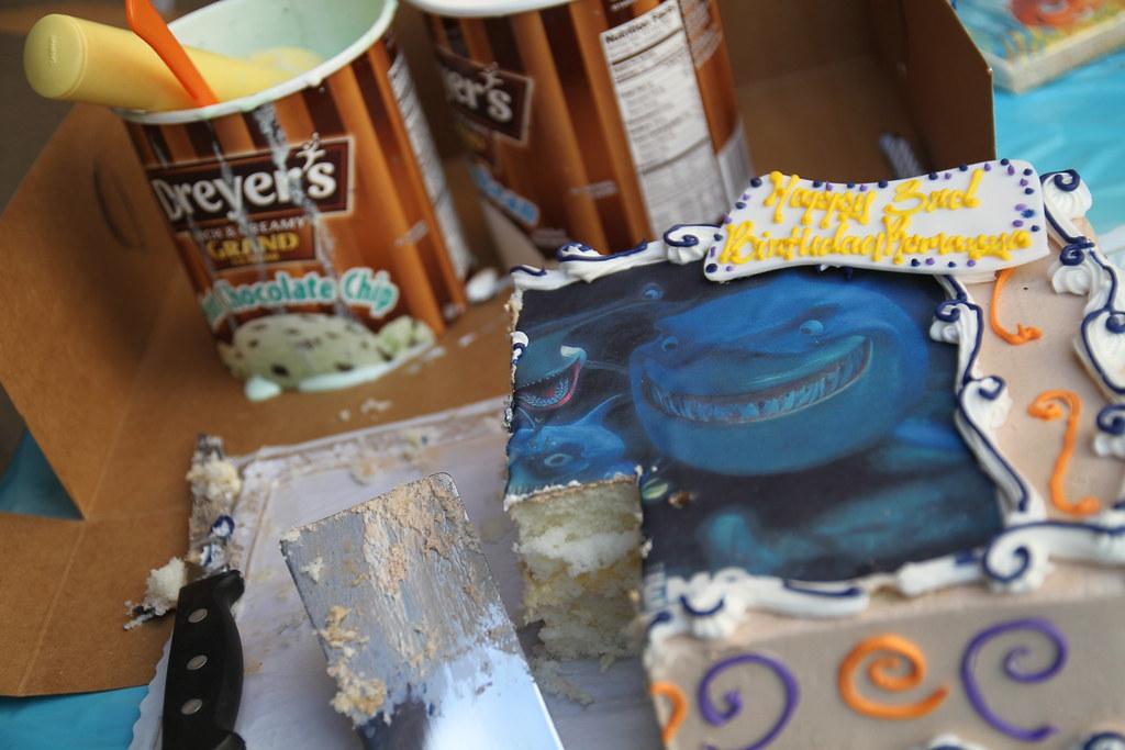 Shark Tale Birthday Cake Nathan Gibbs Flickr