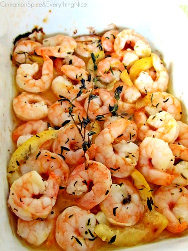 Roasted Lemon Garlic Herb Shrimp | by CinnamonKitchn