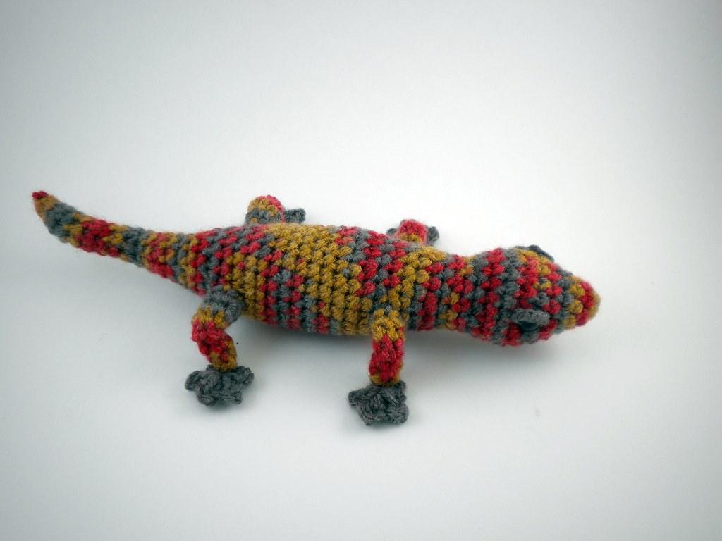 Amigurumi Gecko | Pattern by June Gilbank. Crocheted by me ...
