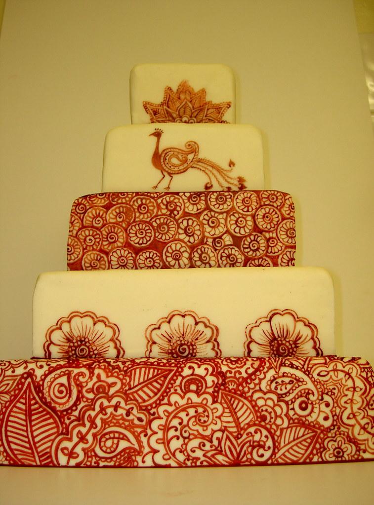 Henna Tattoo inspired Wedding Cake - www.tattoo-cakes.co.u… | Flickr