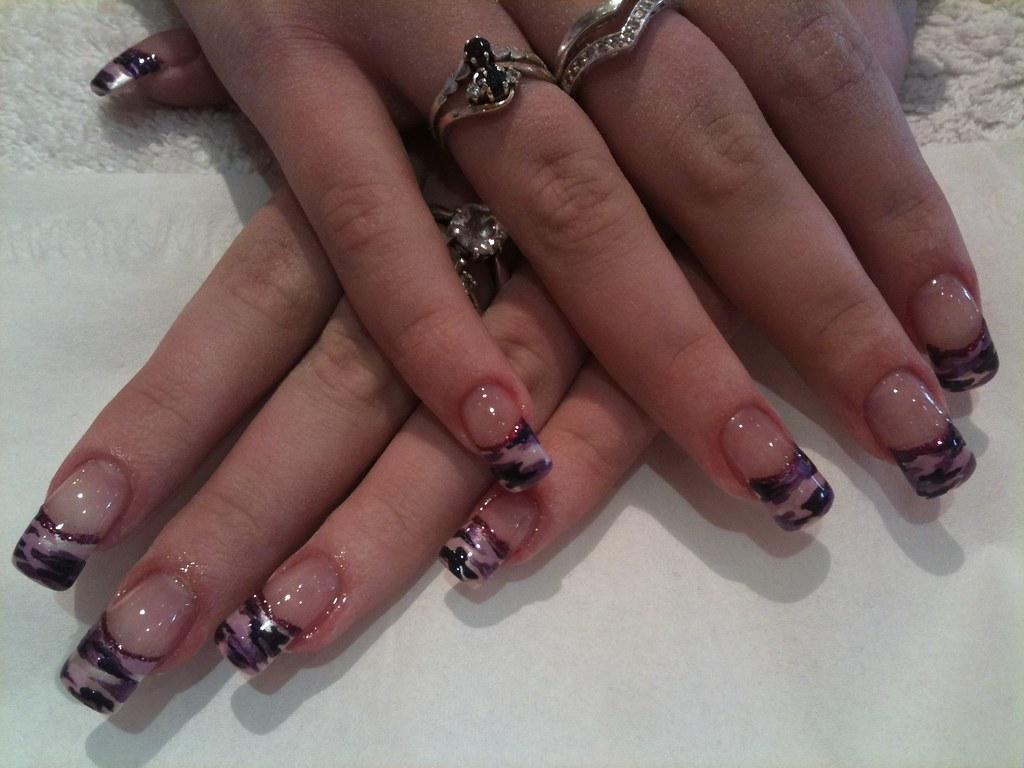 Purple Camouflage Nail Art Eyecandynails Flickr
