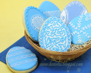 Blue Easter Egg Cookies | by Haniela