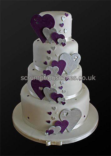 Wedding Cake 746 Purple Silver Hearts Paula Jane Bourke Flickr