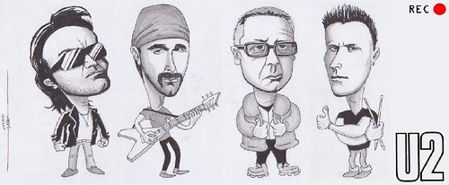 U2,The Edge,Bono,Larry Mullen Jr,Adam Clayton | by RECPunto
