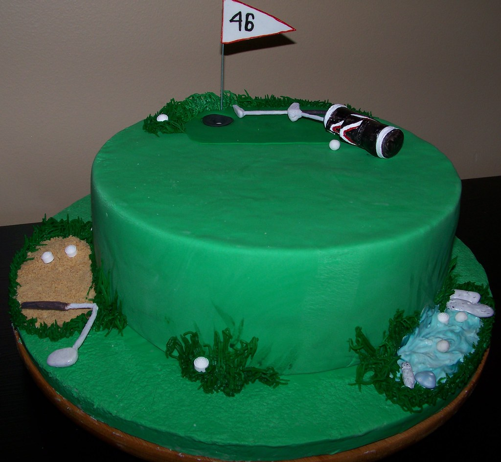 Golf themed birthday cake This cake was inspiredcopied fr Flickr