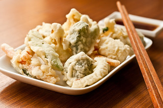 Tempura Vegetables with Dipping Sauce | by vegan4everyone