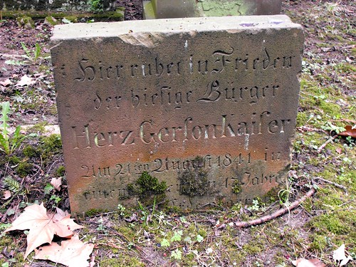 Grave of Herz Gerson Kaiser (1794-1841) | by S. Ruehlow