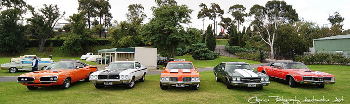 1970 American Muscle Car Line Up In Typical Melbourne Cond Flickr