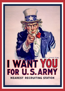 Uncle Sam I Want You - Poster Cleaned | by DonkeyHotey