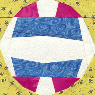 5_ Volleyball Paper-Piecing Block pieced by shecrazy13 | by Jennifer Ofenstein (sewhooked.com)