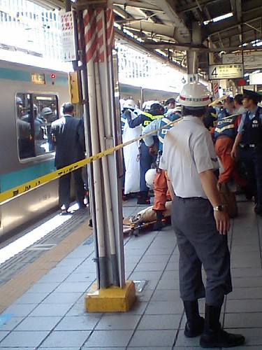 Traffic Accident Resulting in Injury at Yurakucho Station