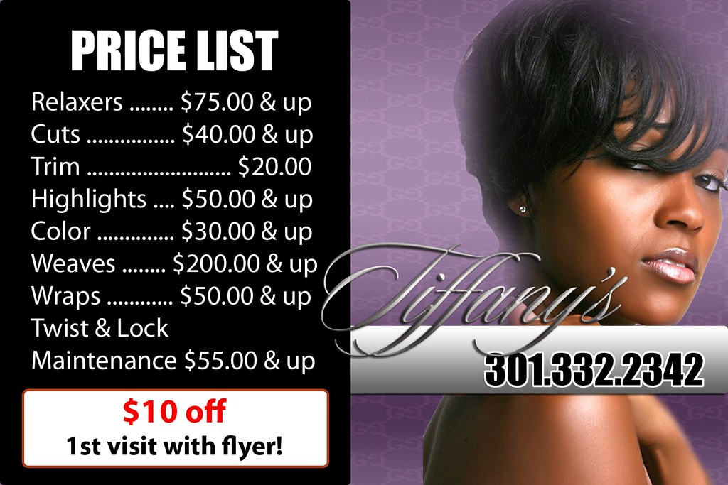 Celebrity Hair Stylist Flyer Back | ImPressProDesign | Flickr