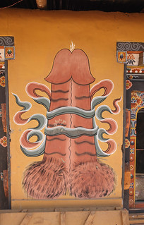 Phallus painting at Sobsokha village,near Punakha,Bhutan | by kukkaibkk