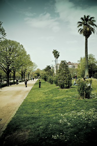bcn jardines de la ciudadela barcelona spain april