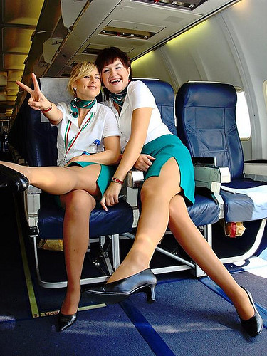 Hot Air >> 2 sexy and hot stewardesses in Air Italy   For more updated …   Flickr