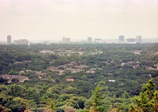 Hazy Austin skyline Mt Bonnell 1981 | by Bryan - oz4caster