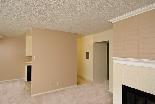 Entry view with Fireplace | by The Franciscan Apartments