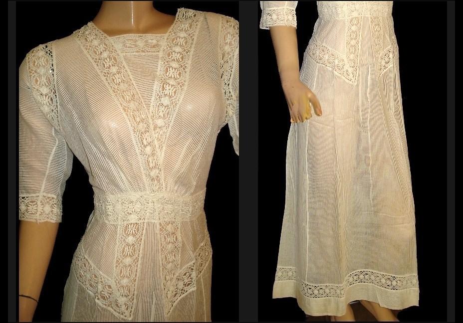1910\'s White Linen Crocheted Lace Wedding Dress ~ Lawn Dre… | Flickr