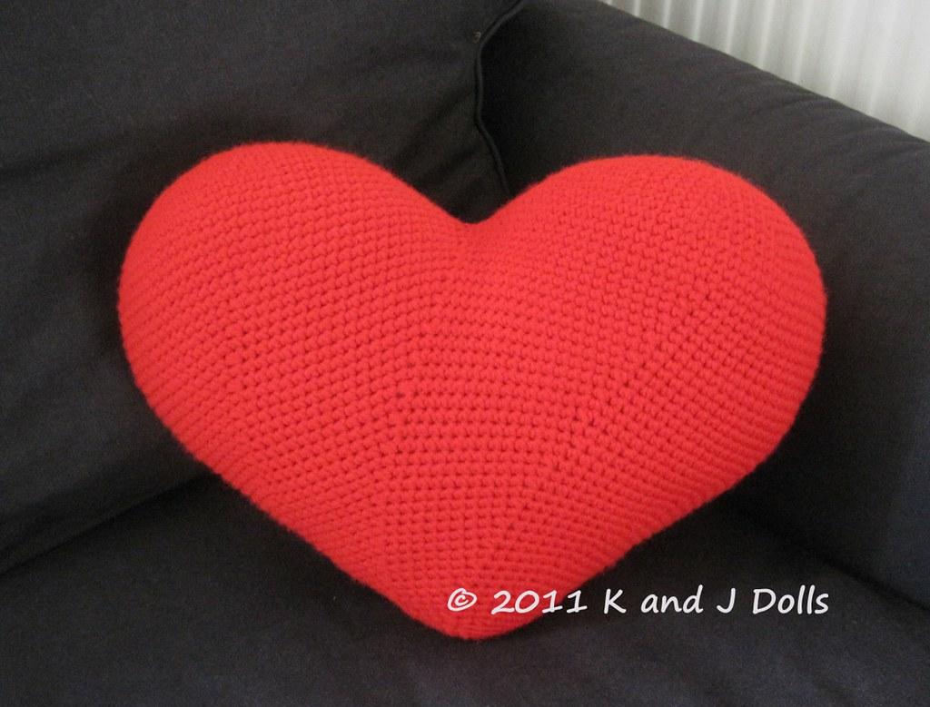 Heart Cushion Crochet Pattern Corchet Pattern On Etsy Www Flickr
