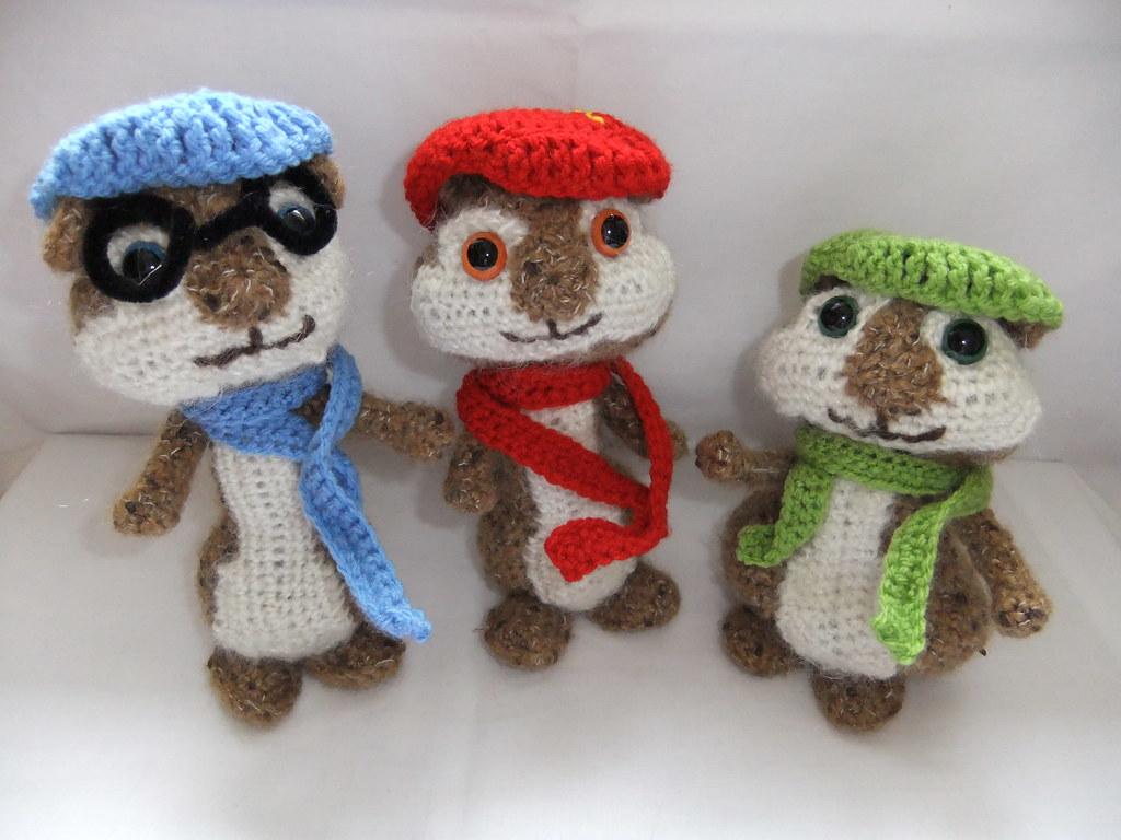 alvin and the chipmunks crochet pattern i handmade croch flickr