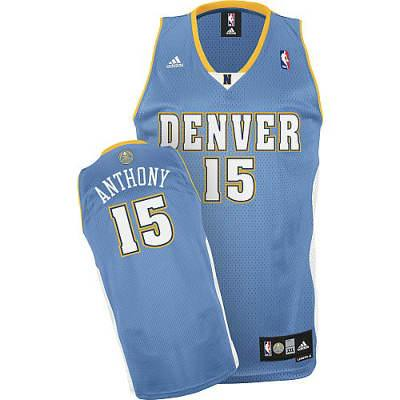 sports shoes 14b26 a09b0 Youth-Denvor Nuggets #15 Carmelo Anthony Baby Blue Jersey ...