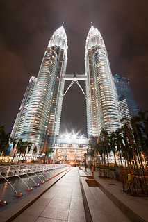 Night at Petronas towers | by Palnick