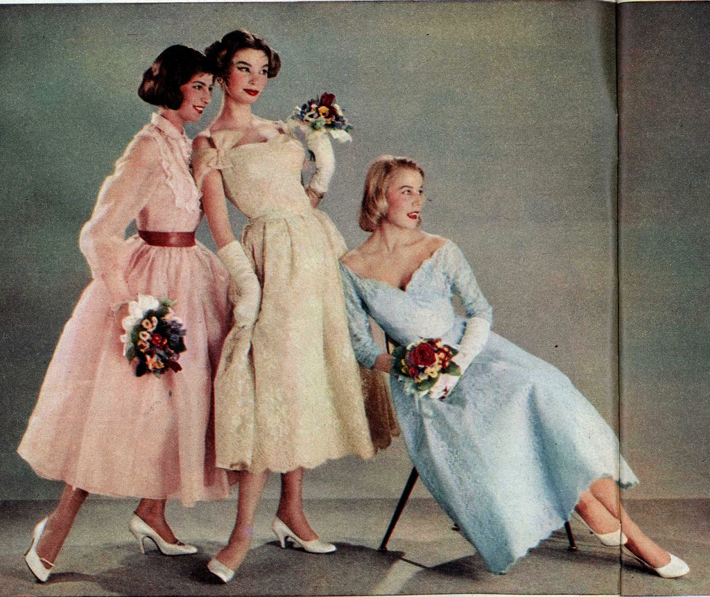 1957 Brigitte Hochzeit Mode Fur Brautjungfern