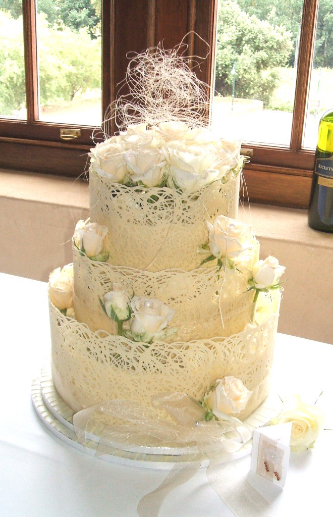 3-Tier with Full Lace White Chocolate Collar | Angie Boyd | Flickr