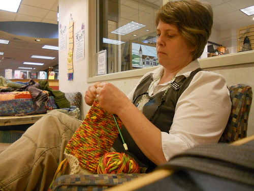 Knitting In Public : Knitting in public daily image may helping out