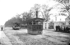 Steam Tram at the gates of Chichester Park, Antrim Road, Belfast