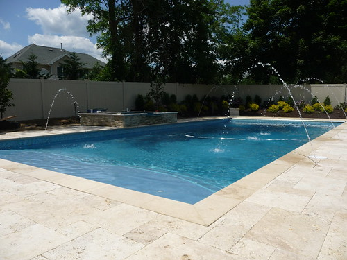 Classic rectangle pool in nj custom concrete rectangle for Pool design hamilton nj