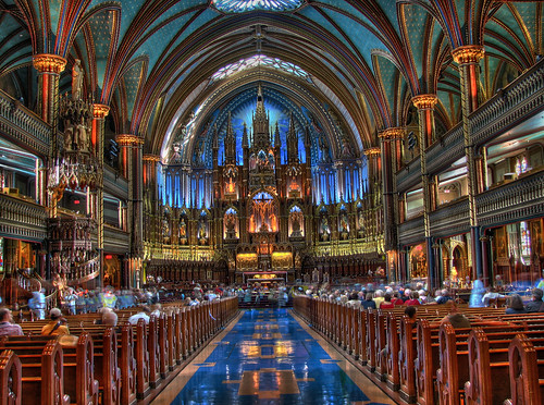 Notre Dame church HDR in Montreal Canada | by E11World
