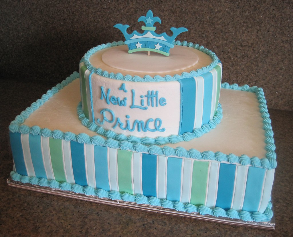 A New Little Prince Baby Shower Cake This Cake Was Desig Flickr