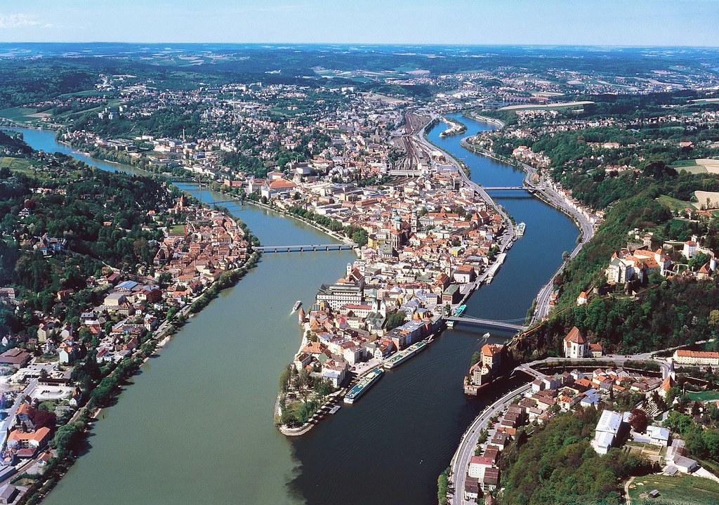 Passau Luftaufnahme