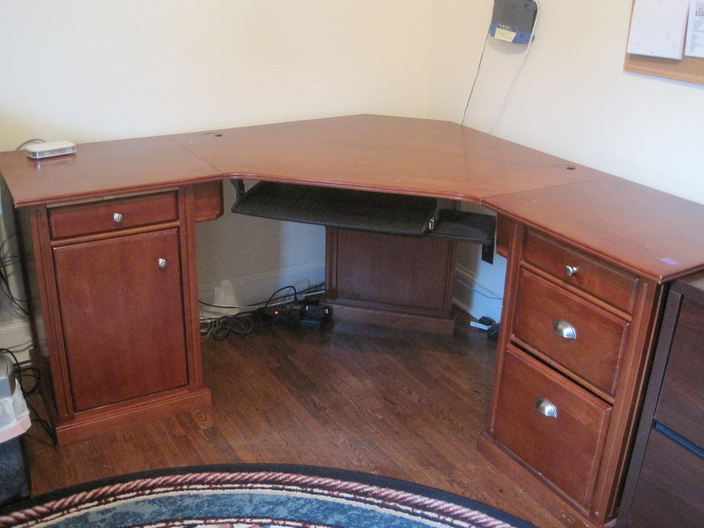 Cherry Wood Corner Desk White Desk Home Office