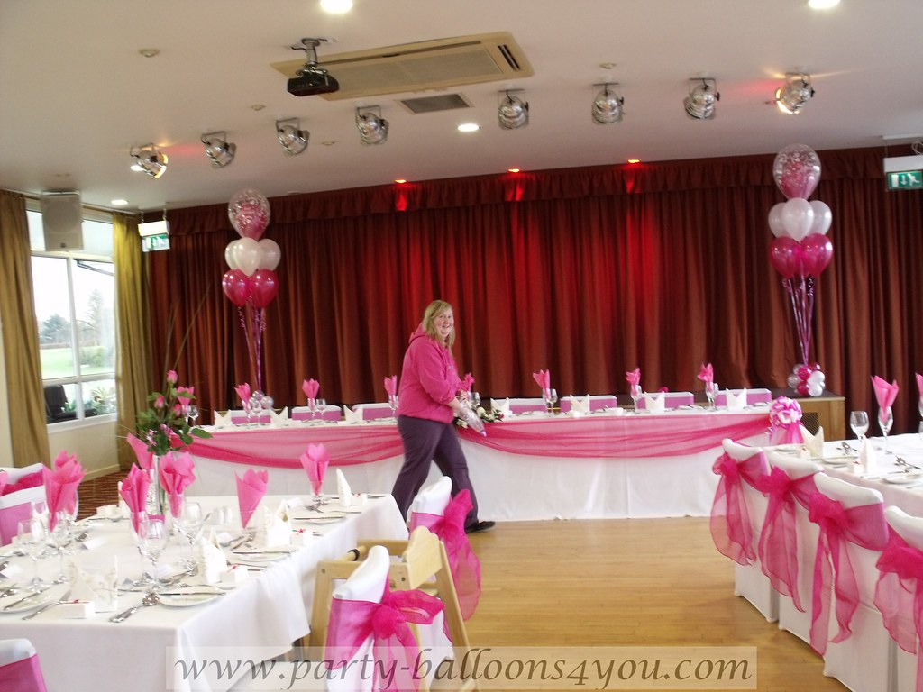 Hot Pink Wedding Decorations Decorations Done By Party Bal Flickr