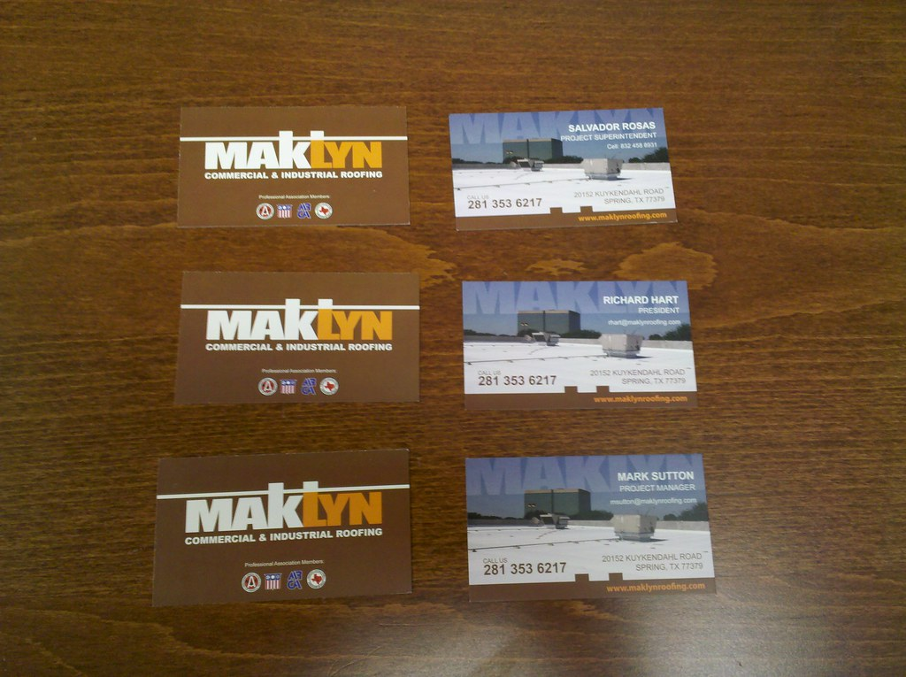 Business Cards - MakLyn Roofing Company in Houston, TX | Flickr