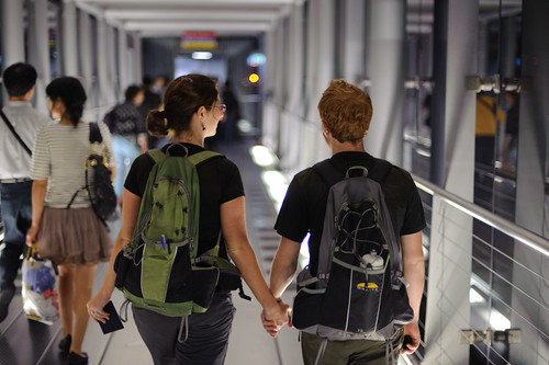 Us Walking to the Plane, Headed Home (by Jesse) | by goingslowly
