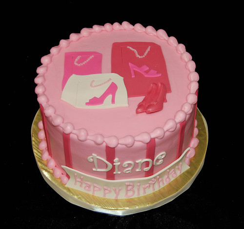 Adult Birthday Cake For A Woman Who Loves To Shop For Shoe
