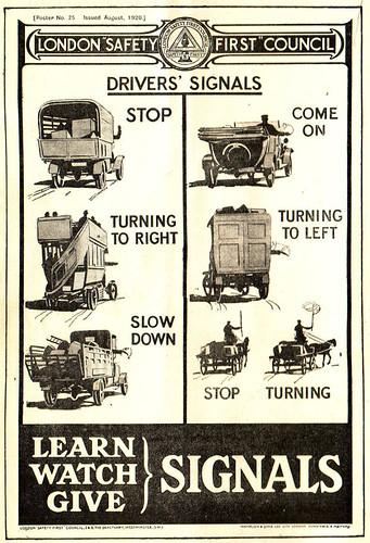 1921 Motor Hand Signals 1920s Motor Transport